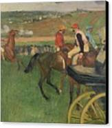 The Race Course Canvas Print by Edgar Degas