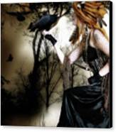 The Raven Canvas Print by Shanina Conway