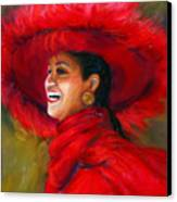 The Red Hat Canvas Print by Billie Colson
