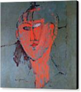 The Red Head Canvas Print by Amedeo Modigliani