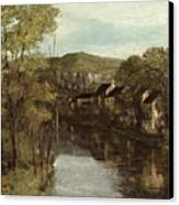 The Reflection Of Ornans Canvas Print by Gustave Courbet