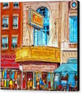 The Rialto Theatre Montreal Canvas Print