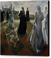 The Ringer Canvas Print by Jane Whiting Chrzanoska