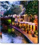 The River Walk Canvas Print by Lisa  Spencer