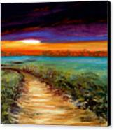 The Road Home Canvas Print by Addie Hocynec