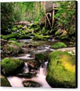 The Roaring Fork And Reagan's Mill Canvas Print by Thomas Schoeller
