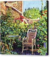 The Roof Garden Canvas Print by David Lloyd Glover