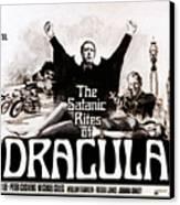 The Satanic Rites Of Dracula, Center Canvas Print by Everett