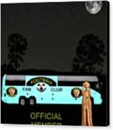 The Scream World Tour Football Tour Bus Canvas Print by Eric Kempson