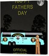 The Scream World Tour Football Tour Bus Fathers Day Canvas Print