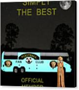 The Scream World Tour Football Tour Bus Simply The Best Canvas Print
