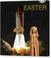The Scream World Tour Space Shuttle Happy Easter Canvas Print by Eric Kempson
