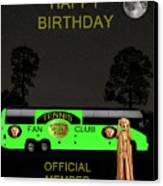 The Scream World Tour Tennis Tour Bus Happy Birthday Canvas Print