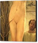 The Sculptor's Model Canvas Print by Sir Lawrence Alma-Tadema