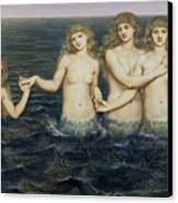 The Sea Maidens Canvas Print
