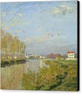 The Seine At Argenteuil Canvas Print by Claude Monet