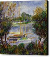 The Seine At Argenteuil Canvas Print by Pierre Auguste Renoir