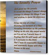 The Serenity Prayer Canvas Print by Barbara Snyder