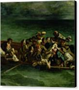 The Shipwreck Of Don Juan Canvas Print by Ferdinand Victor Eugene Delacroix