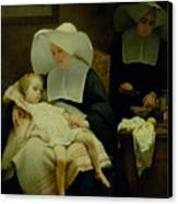 The Sisters Of Mercy Canvas Print by Henriette Browne
