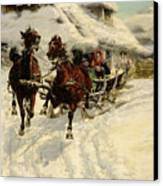 The Sleigh Ride Canvas Print by JFJ Vesin