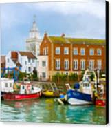 The Small Fishing Port Canvas Print by Trevor Wintle