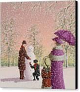 The Snowman Canvas Print