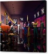 The Sport's Bar Canvas Print by Walter Oliver Neal