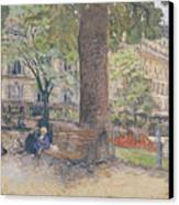 The Square At Vintimille Canvas Print by Edouard Vuillard