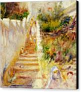 The Steps In Algiers Canvas Print by Pierre Auguste Renoir