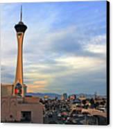 The Stratosphere In Las Vegas Canvas Print by Susanne Van Hulst