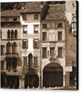 The Streets Of Vittorio Veneto Canvas Print
