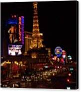 The Strip At Night 2 Canvas Print