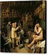 The Studio Of Jean Antoine Houdon Canvas Print