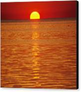 The Sun Sinks Into Pamlico Sound Seen Canvas Print by Stephen St. John