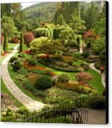 The Sunken Garden At Butchart Gardnes Canvas Print by Darlyne A. Murawski
