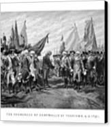 The Surrender Of Cornwallis At Yorktown Canvas Print