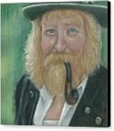 The Swiss Farmer Canvas Print by Linda Nielsen