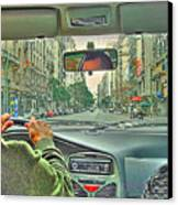 the Taxi Driver Canvas Print