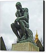 The Thinker By Rodin Canvas Print by Al Bourassa
