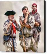 The Three Frontiersmen  Canvas Print
