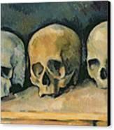 The Three Skulls Canvas Print by Paul Cezanne