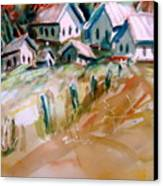 The Town On Shaky Ground Canvas Print by Steven Holder