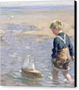 The Toy Boat Canvas Print by William Marshall Brown