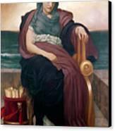 The Tragic Poetess Canvas Print by Frederic Leighton