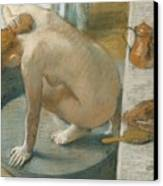The Tub Canvas Print by Edgar Degas