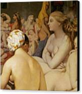 The Turkish Bath Canvas Print by Ingres