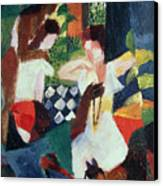 The Turkish Jeweller  Canvas Print by August Macke