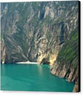 The Turquoise Water At Slieve League Sea Cliffs Donegal Ireland  Canvas Print