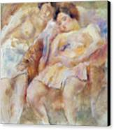 The Two Sleepers Canvas Print by Jules Pascin